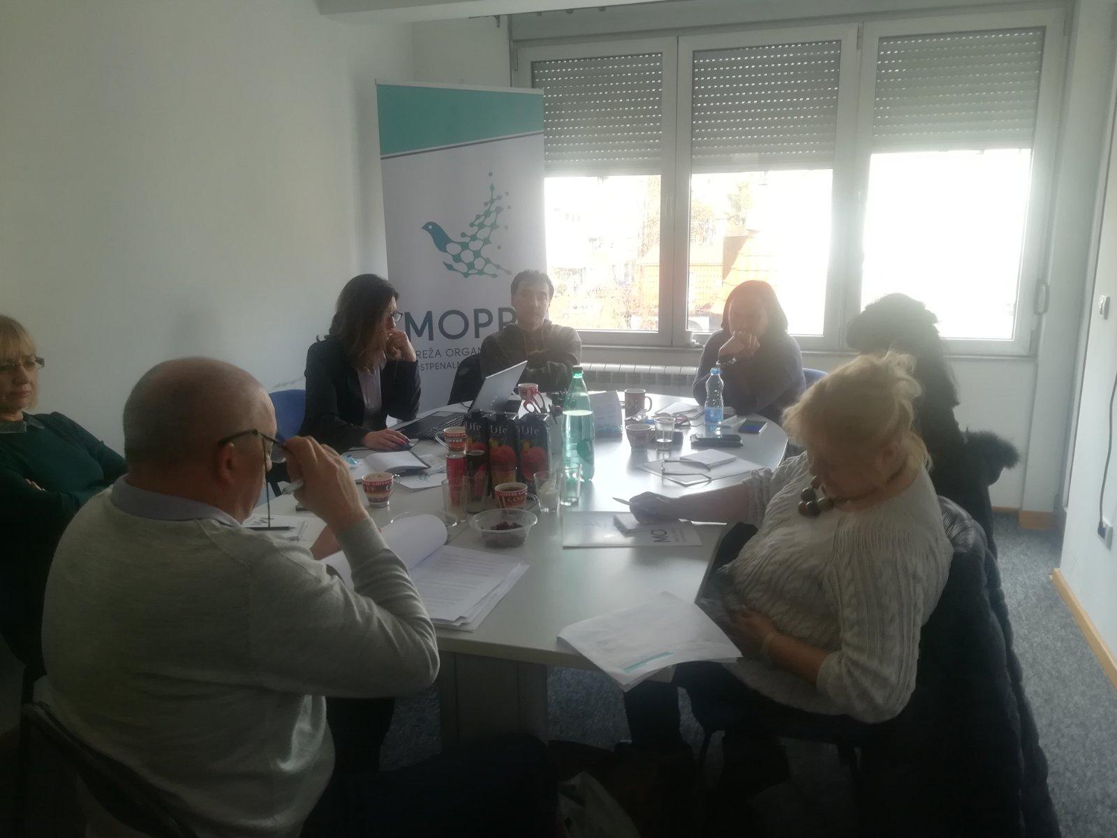 """Održani prvi sastanci radnih grupa u okviru projekta """"Jačanje uloge civilnog sektora u postpenalnom sistemu"""""""
